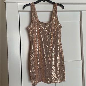 She Shinin' Metallic Mini Dress- size XL